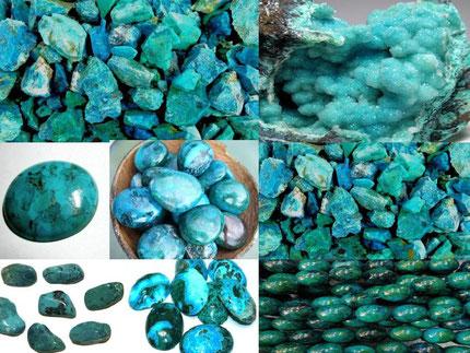 Chrysocolle - Lithothérapie - Boutique de minéraux - Casa bien-être