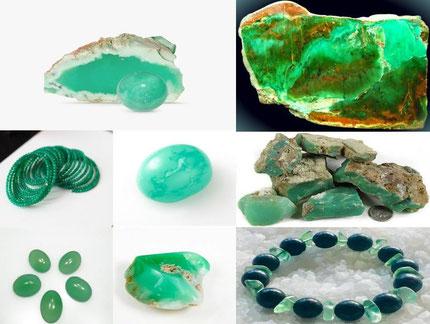 Chrysoprase - Lithothérapie - Boutique de minéraux - Casa bien-être