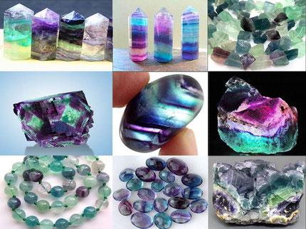 Fluorite - Lithothérapie - Boutique de minéraux - casa bien-être