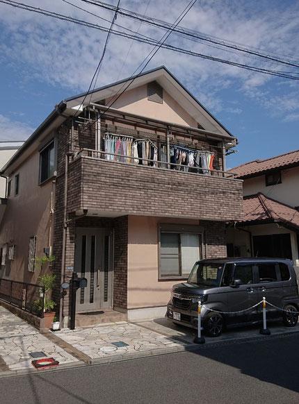 鎌ヶ谷市の外壁塗装工事 ビフォー