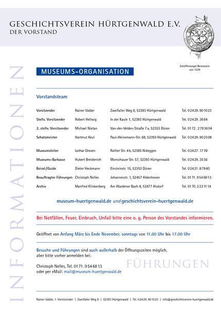 Erweiterter Vorstand und Museums-Teamler
