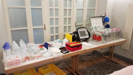 Notfallversorgung beim SWD - Die SEG SAN mit einem Notfallbehandlungsplatz