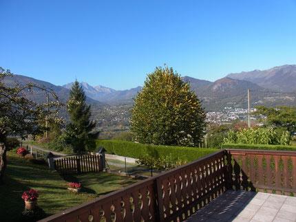 Panorama depuis la terrasse du gîte