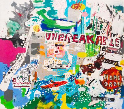 Unbreakable , 1987 - 1987 Jean Michal Basquiat- Samo