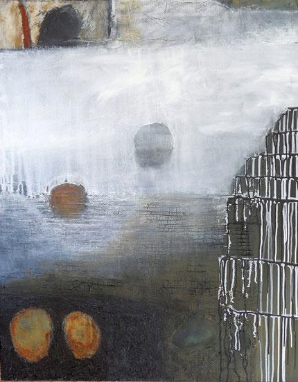 Zwischenwelten 1 / Mischtechnik auf Leinwand / 100 x 80 cm