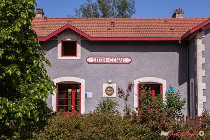 Gîte intercommunal, gare de Citon-Cénac. 13/05/2018