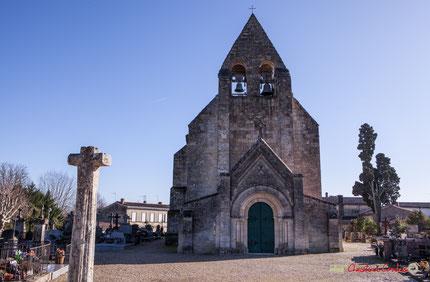 Eglise Saint-André de Cénac, cimetière, mur d'enceinte classés Monuments Historiques