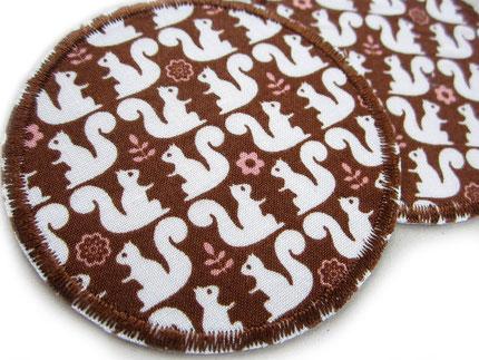 Bild: Bügelflicken Eichhörnchen, runde Knieflicken Hosenflicken für Kinder
