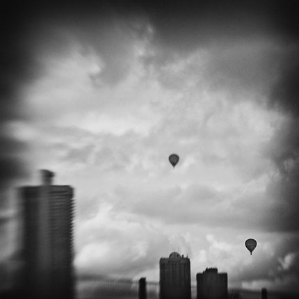Ballons - wirken sie wie Herzen über Köln