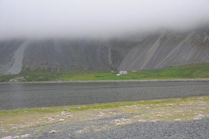 paysage islandais dans la tempête
