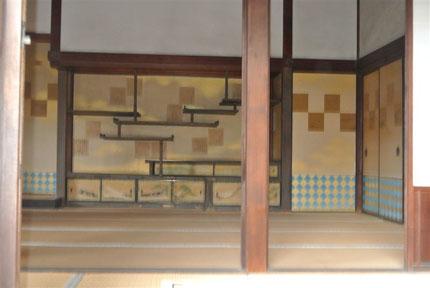 楽只軒客殿一の間天下の3大棚の一つ霞棚