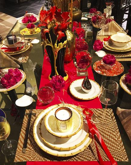 christmas, table setting, muro designs, interior design, interior coordinator, hawaii, california, modern interior, hawaiian interior,  ムロデザインズ、インテリアデザイン、インテリアコーディネーター、ハワイ、カリフォルニア、モダンインテリア、テーブルセッティング、クリスマス