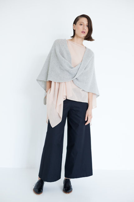 natürlich: Outfit mit pflanzlich gefärbter Bluse in altrosa