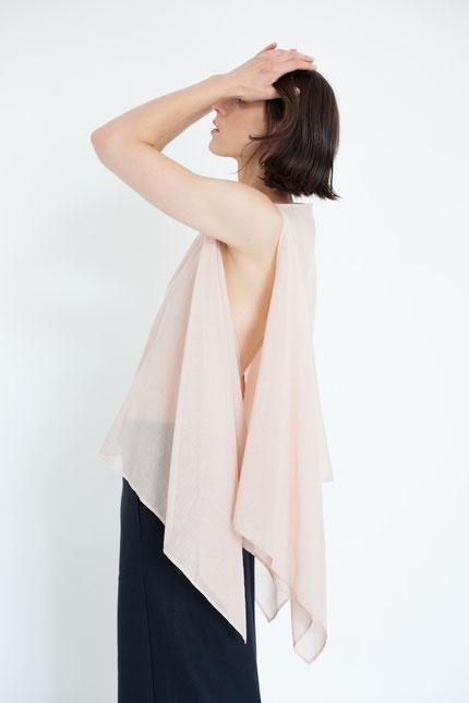 natürlich: pflanzlich gefärbte Bluse in altrosa
