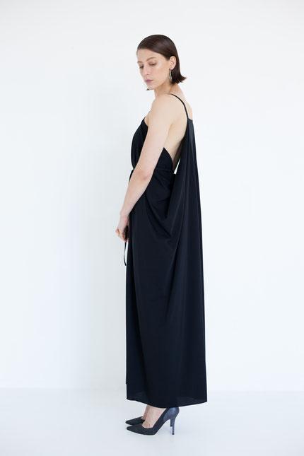 elegant: langes Abendkleid aus feiner Bio-Baumwolle
