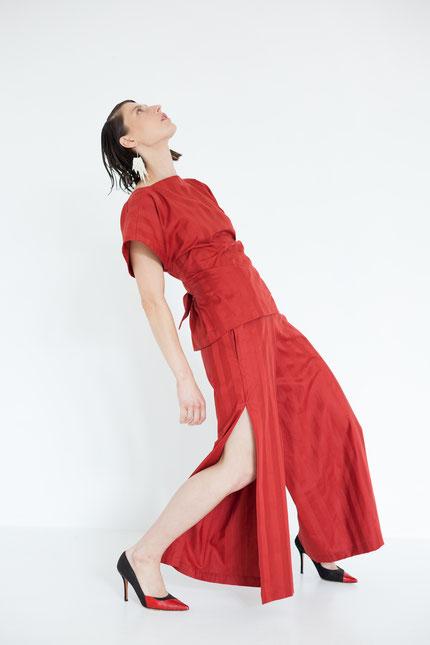 elegant: schlichte Bluse aus gestreifter Bio-Baumwolle