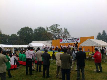 雨予報の天気もなんとかもち、開会式となりました。