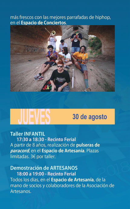 Programa de actividades de la Feria de Almansa
