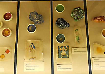 Mineralische Pigmente für farbige Tinten