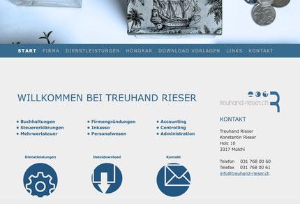 Druckatelier46 Mülchi - Neuer Webauftritt für Treuhand Rieser Mülchi