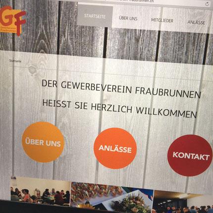 Druckatelier46 Mülchi - Webseitengestaltung Gewerbeverein Fraubrunnen