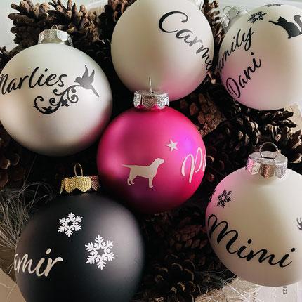 Druckatelier46 Mülchi - Weihnachtskugeln mit individuellem Namen