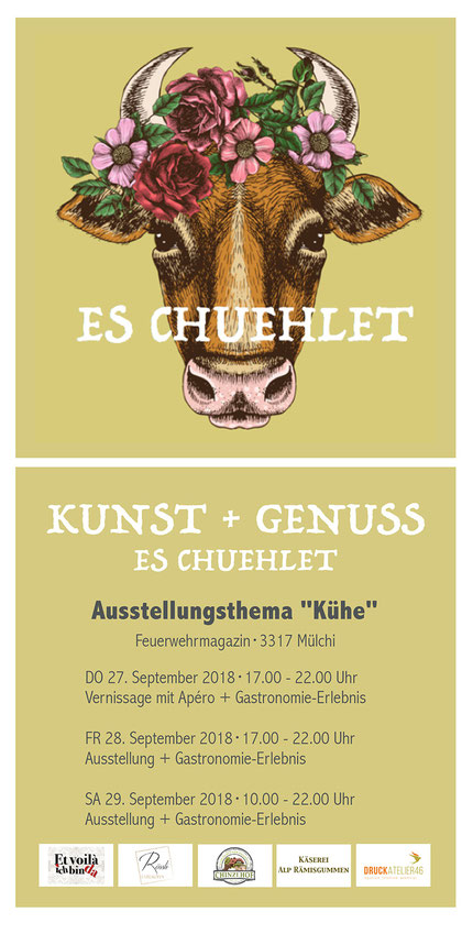 Druckatelier46 Mülchi - Blogartikel Ausstellung Es Chuehlet