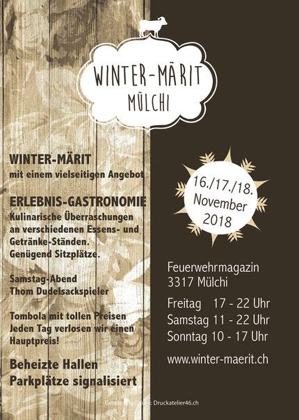 Druckatelier46 Mülchi - Winter-Märit Mülchi 2018