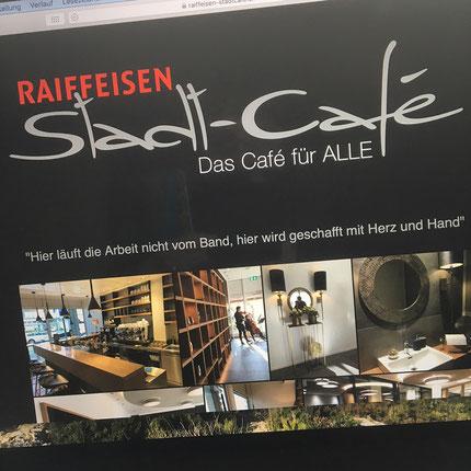 Druckatelier46 Mülchi - Webseitengestaltung Raiffeisen-Stadtcafé