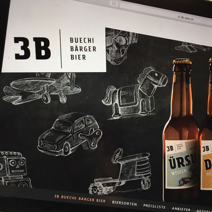 Druckatelier46 Mülchi - Blogartikel Webdesign 3B-Bier - Buechibärger Bier
