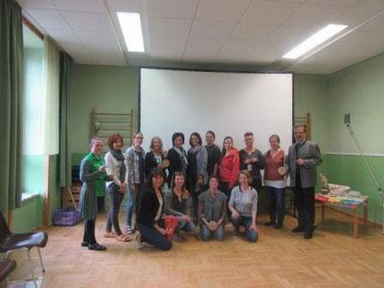 Seminar Zahlengarten mit Gabi Preiß persönlich im Kindergarten Mooskirchen, organisiert von Roswitha Hafen und der Leitung Maria Gößle
