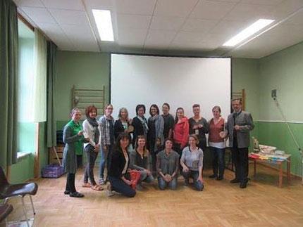 5.05.2017: Seminar Zahlengarten mit Gabi Preiß persönlich im Kindergarten Mooskirchen, organisiert von Roswitha Hafen und der Kindergartenleitung Maria Gößler