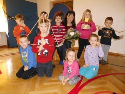 Abschluss des Projektes Zahlenland 1 im heilpäd.Kindergarten mit Roswitha Hafen, gesponsert von Licht ins Dunkel