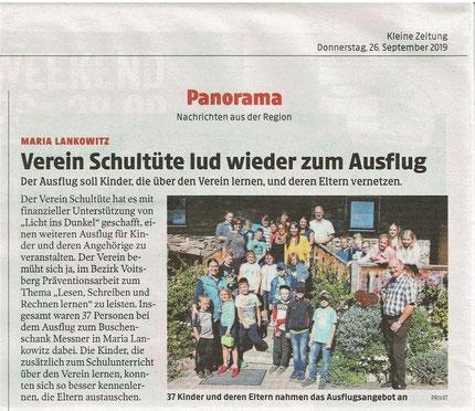 Kleine Zeitung, 26.09.2019