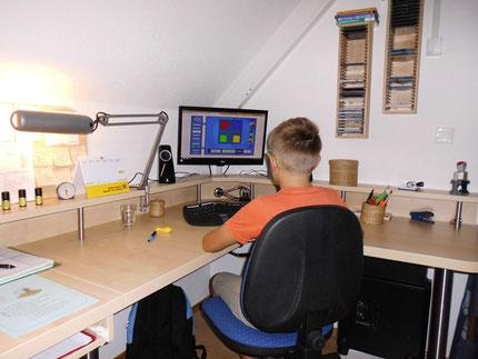 Training der optischen Serialität am PC bei Roswitha Hafen