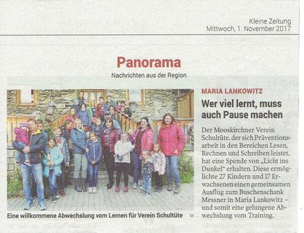 Kleine Zeitung, 1.November 2017