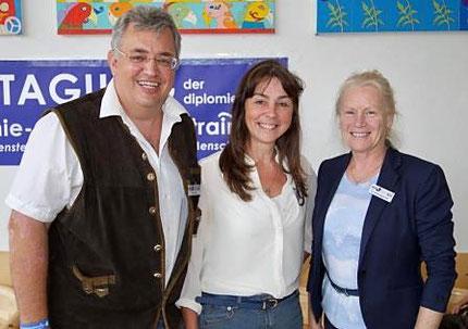 17.06.2017: Besuch der Fachtagung des EÖDL an der Universität Salzburg: Mario Engel, Roswitha Hafen, Dr. Astrid Kopp-Duller.