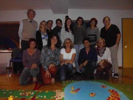 ..Gruppenfoto zum Entenland 2 mit Gabi Preiß und Prof. Preiß...