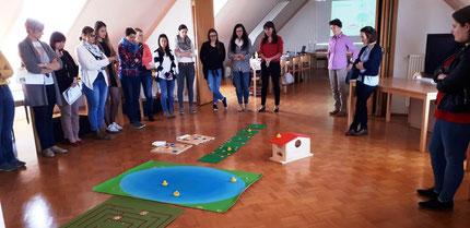 """Seminar: """"Entenland 1"""": frühe mathematische Bildung mit Roswitha Hafen für die PädagogInnen der Kinderkrippe Söding."""