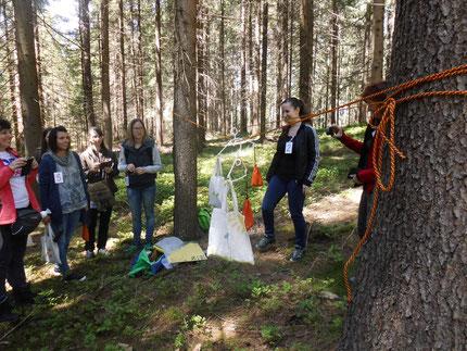 ..danach in den Wald, wir durften dankenswerteweise das Gelände von von Familie Tappler benutzen.....