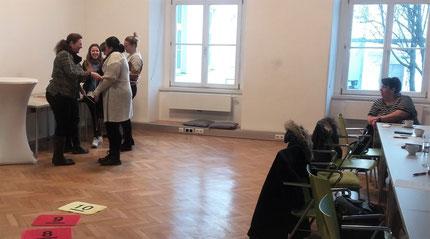 """Seminar: """"Zahlenland 1"""", Teil 2,  für PädagogInnen der Stadt Graz, durchgeführt von Roswitha Hafen, finanziert und organisiert von der Abteilung für Bildung und Integration der Stadt Graz, diesmal im Seminarraum in der Keesgasse."""