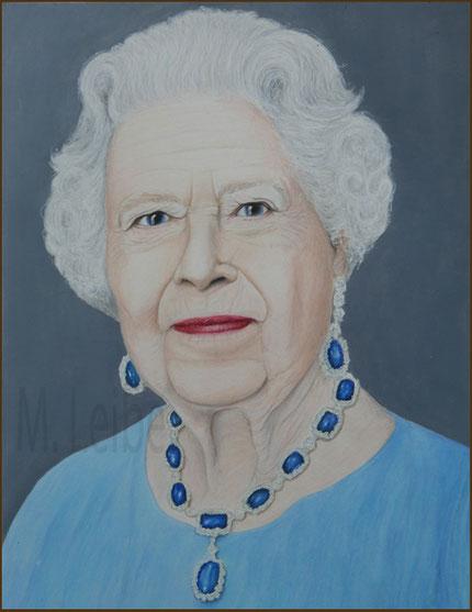 Queen Elizabeth portrait gemalt