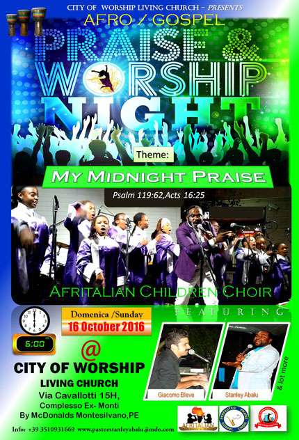 Upcoming Concert for Stanley - Afro Praise Night