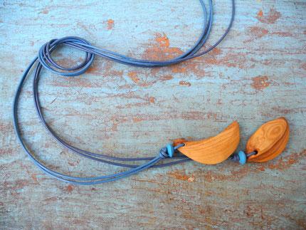 TWIN Set- Schmuckanhänger aus Olivenholz