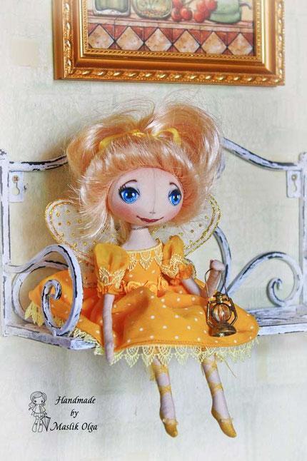 Светлячок, текстильная кукла на подарок. Маслик Ольга