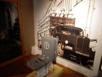 グスタフスベリ社のトイレ 昔はこうやって配送したそうです