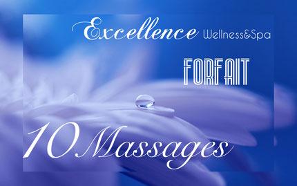 Promotion forfait 10 massages bien etre, à biarritz.
