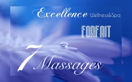 Promotion forfait 7 massages bien etre, à biarritz.
