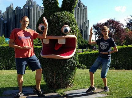 Guillaume et Lucas en shuto au futuroscope !