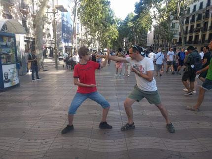 Guillaume et Lucas à Barcelone :!!
